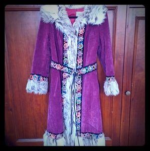 Absolute Statement maker vintage suede coat